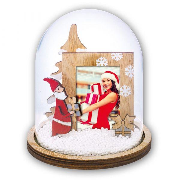Foto Schneekugel Bilderrahmen Weihnachten NIKOLAUS & GESCHENKE 1 Stk Ø 15 cm