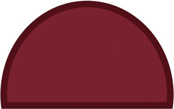 Fußmatte Fußabstreifer UNI einfarbig rutschfest 50x80 cm halbrund Farbe weinrot