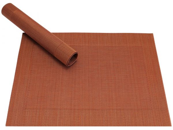Tischset Platzset BORDA B-WARE 1 Stk. Kupfer terracotta gewebt Kunststoff
