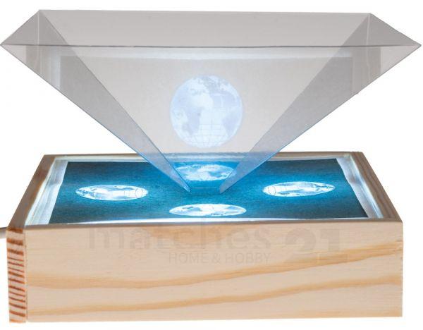 Smartphone Box für 3D Hologramme inkl. USB Kinder Bausatz Werkset ab 10 Jahren