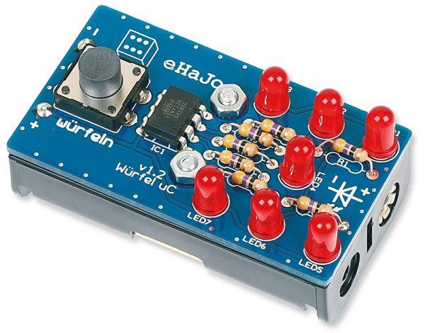 Mikrocontroller Würfeln Elektronik Bausatz vorprogrammiert Bastelset ab 12 Jahre