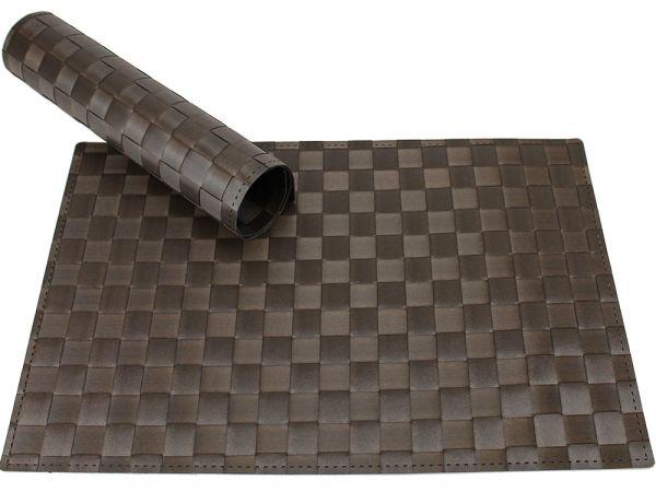 Tischset Platzset MODERN braun geflochten Kunststoff 1 Stk. B-WARE 45x30 cm