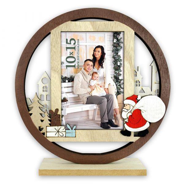 Bilderrahmen Fotorahmen Holz braun Weihnachten NIKOLAUS & SACK 1 Stk 22x20 cm