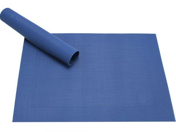 Tischset Platzset BORDA B-WARE dunkelblau blau 1 Stk. Kunststoff gewebt abwaschbar