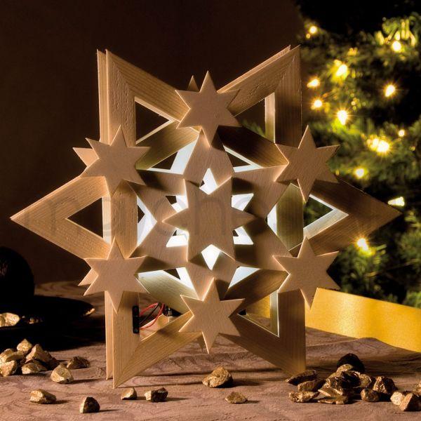 Weihnachtsstern Cosmos LED Bausatz f. Kinder Werkset Bastelset ab 9 Jahren