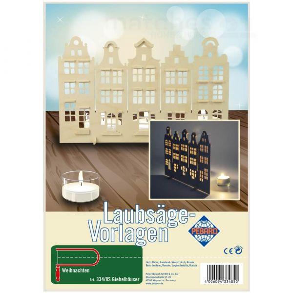 Giebelhäuser Häuser Laubsägevorlage Kinder Holz Laubsäge Vorlage zum Aussägen