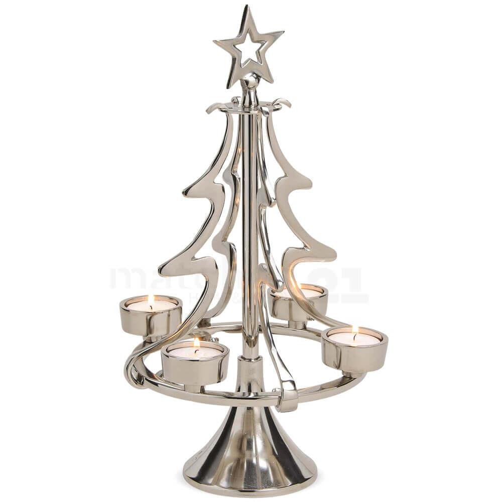 weihnachtsbaum tannenbaum kerzenständer für 4 teelichter