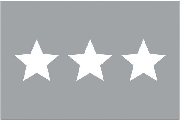 Fußmatte Fußabstreifer DECOR drei Sterne weiß & hellgrau grau waschbar 40x60 cm