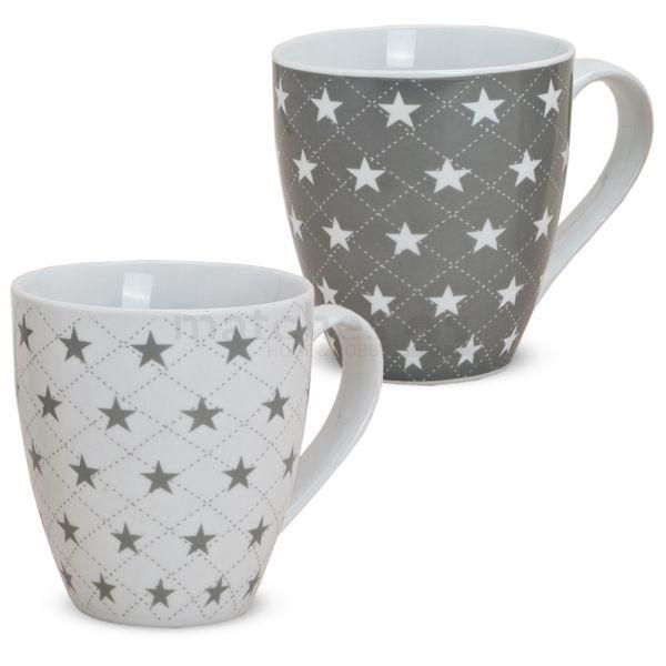 XXL Jumbo Tassen Becher Kaffeebecher Sterne B-WARE Porzellan 1 Stk.