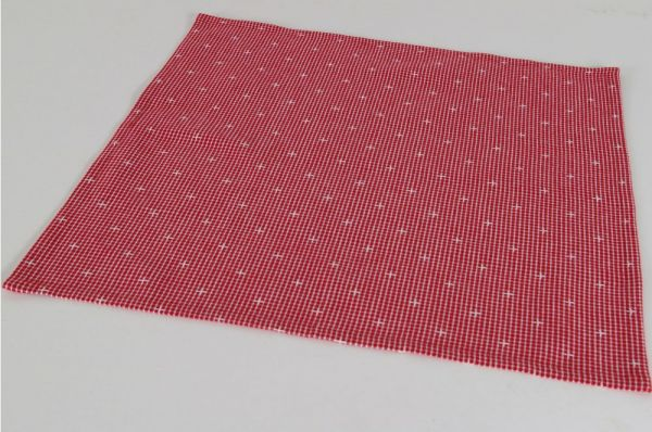 Stoffserviette Serviette Landhaus Premium ROSI Kariert rot weiß 45x45 cm