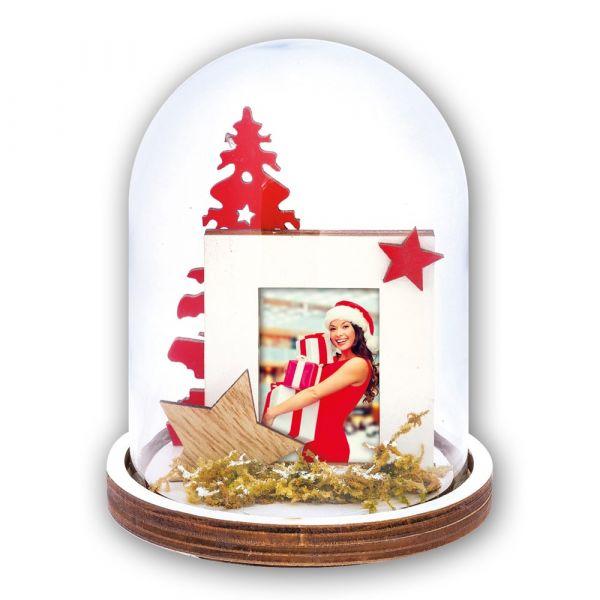 Foto Fotokugel Bilderrahmen Weihnachten STERNE & CHRISTBAUM 1 Stk Ø 9x11,5 cm