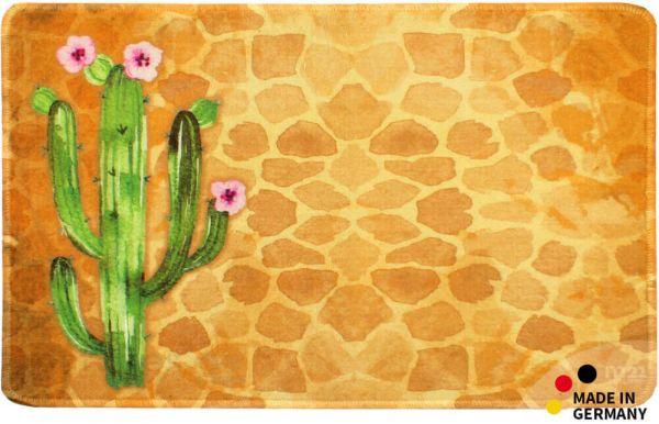 Teppichläufer Küchenläufer Kaktus auf Fliesen braun Läufer 50x80 cm waschbar