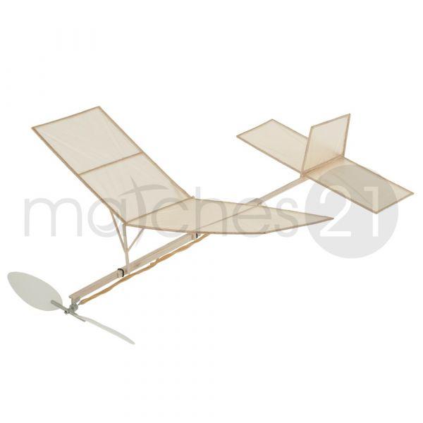 Saalflieger Indoor Flugzeug 280 mm Bausatz f. Kinder Werkset Bastelset ab 11 J