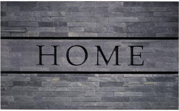 Fußmatte Gummimatte wetterfest OUTDOOR DECOR Home Steinwand grau 45x75 cm