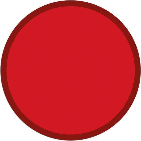 Fußmatte Türmatte Teppich UNI einfarbig rutschfest Ø 95 cm rund Farbe rot