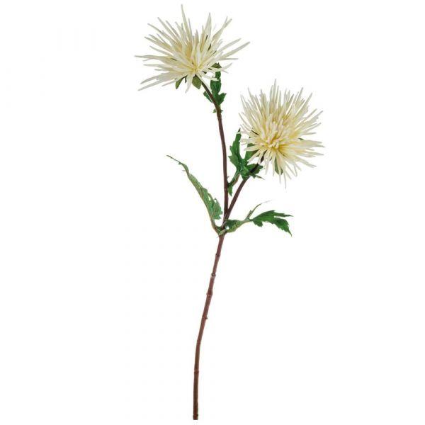 Strahlen Chrysantheme künstlich Deko Blume Kunstblume Herbst 1 Stk - weiß