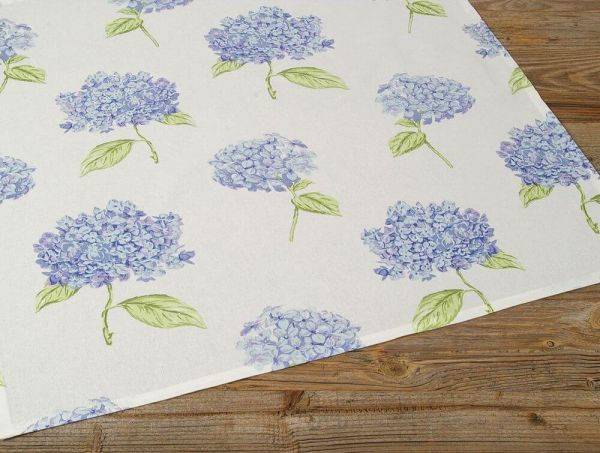 Mitteldecke Tischdecke Landhaus Premium LOTTE Hortensien Blüten 70x70 cm