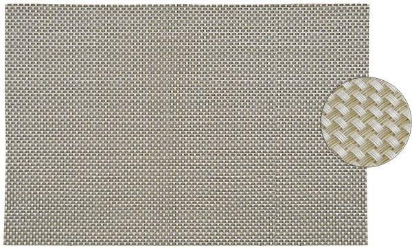 Tischset Platzset ELEGANCE silber gewebt 1 Stk. abwaschbar 45x30 cm Kunststoff