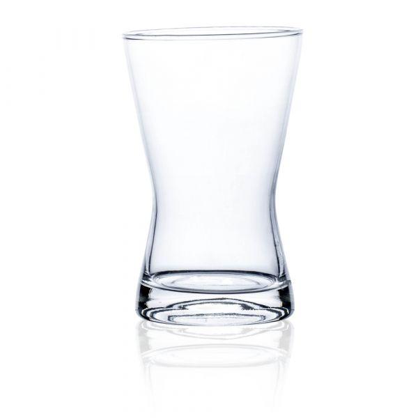 Blumenvase Bodenvase Dekoglas Dekovase Glas konkav hot cut 1 Stk - Ø 11x17 cm