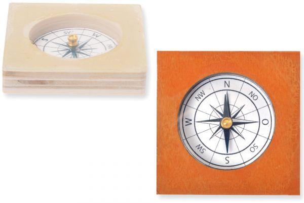 Kompass Magnetkompass Holzbausatz Bausatz Bastelset Kinder Werkset ab 10 Jahren