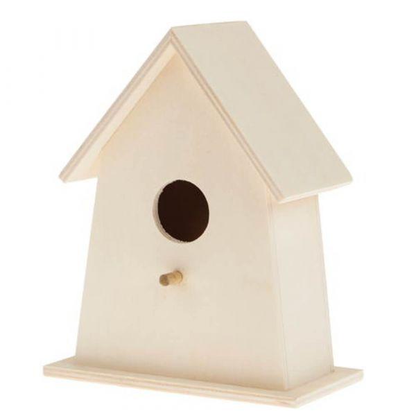 Nistkasten Vogelhaus Naturdeko gestaltbar 120x70x155 mm Massivholz - ab 6 Jahren
