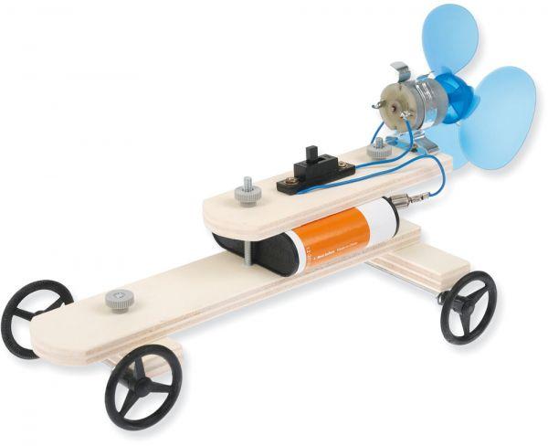 Fahrzeug mit Propellerantrieb Holz Bausatz Kinder Werkset Bastelset ab 11 Jahren