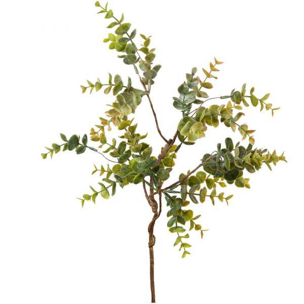 Eukalyptus Zweig Kunstpflanze Dekozweig Naturdeko 1 Stk Länge 50 cm grün / braun