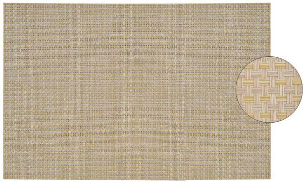 Tischset Platzset ELEGANCE beige gewebt 1 Stk. abwaschbar 45x30 cm Kunststoff