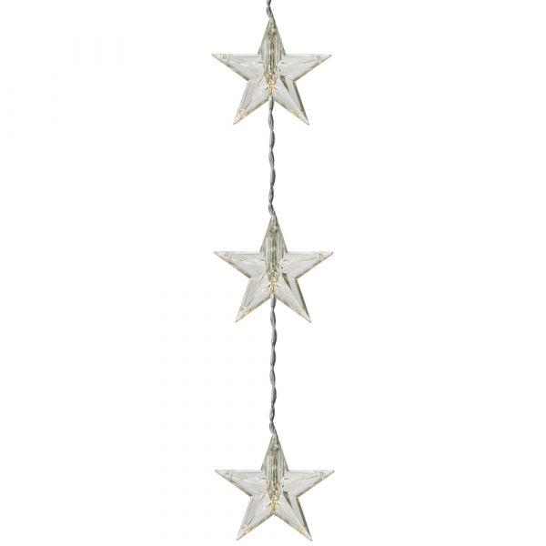 LED Sternlichter Vorhang Stern Lichtervorhang transparent / warmweiß