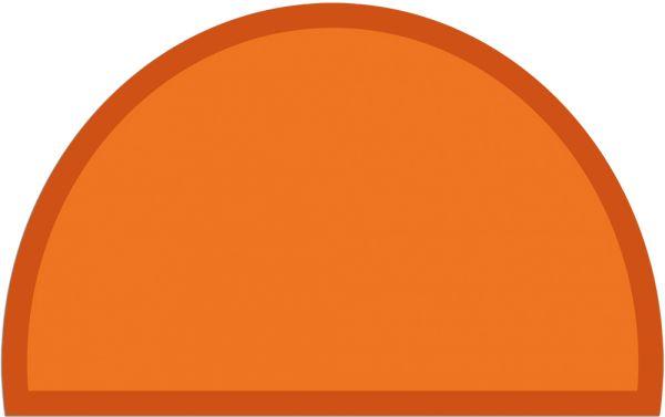 Fußmatte Fußabstreifer UNI einfarbig rutschfest 50x80 cm halbrund Farbe orange