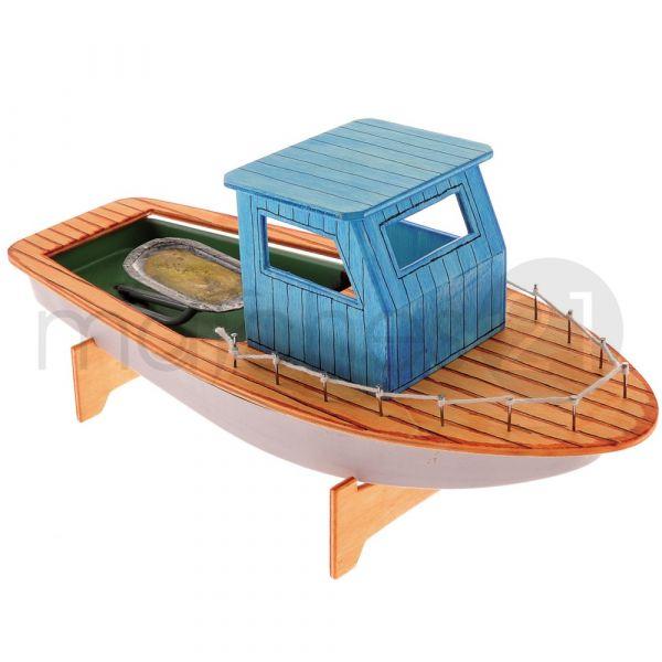 Fischerboot mit Knatterantrieb Bausatz f. Kinder Werkset Bastelset ab 12 Jahren