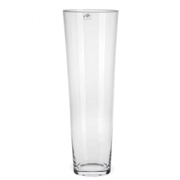 Vase Glas konisch Dekoglas Glasvase Blumenvase Bodenvase hoch 1 Stk Ø 17x50 cm