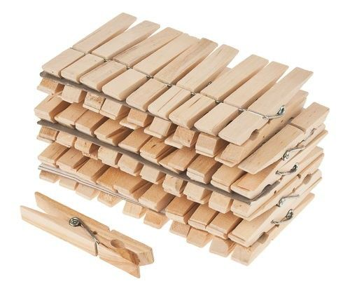 Holz Wäscheklammern 50 Stk. Je 4 cm für Geschenkverpackungen etc.