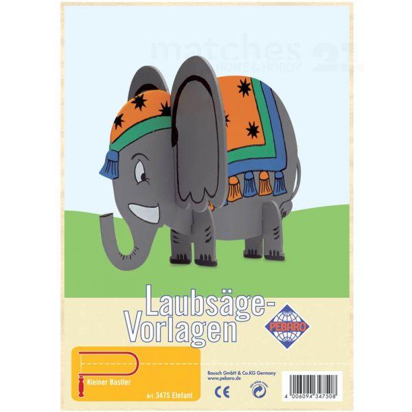 Elefant Laubsägevorlage Kinder Holz Laubsäge Vorlage zum Aussägen