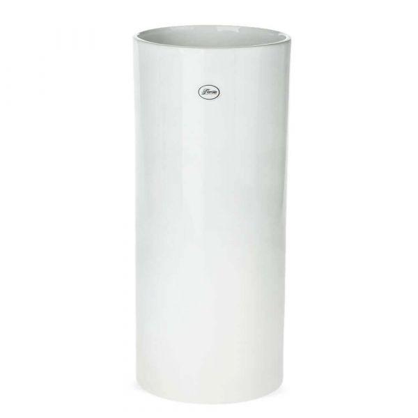 Vase Keramik weiß hoch rund Blumenvase Tischvase Bodenvase 1 Stk - Ø 16x35 cm