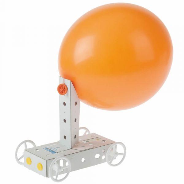 Luftballon Fahrzeug Karton Funktionsmodell Kinder Bausatz Werkset ab 6 Jahre