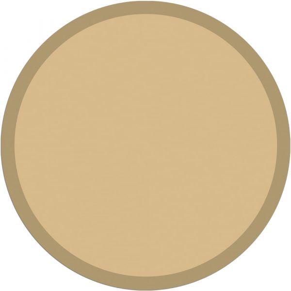 Fußmatte Türmatte Teppich UNI einfarbig rutschfest Ø 65 cm rund Farbe beige