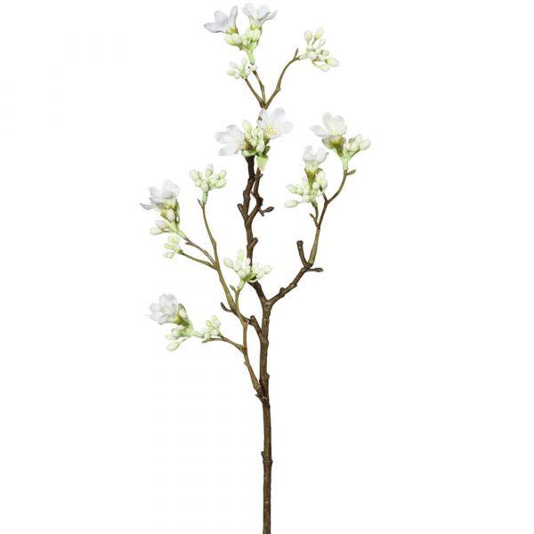 Quitte Zweig mit Blüten Zierquitte Kunstblumen Kunstpflanze 51 cm 1 Stk creme
