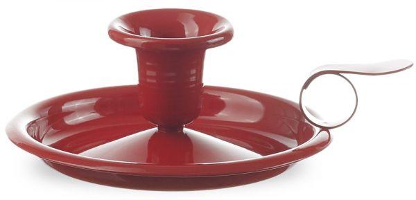 Kerzenhalter Kerzenleuchter Kerzenständer Metall pulverbeschichtet rot Ø 13 cm