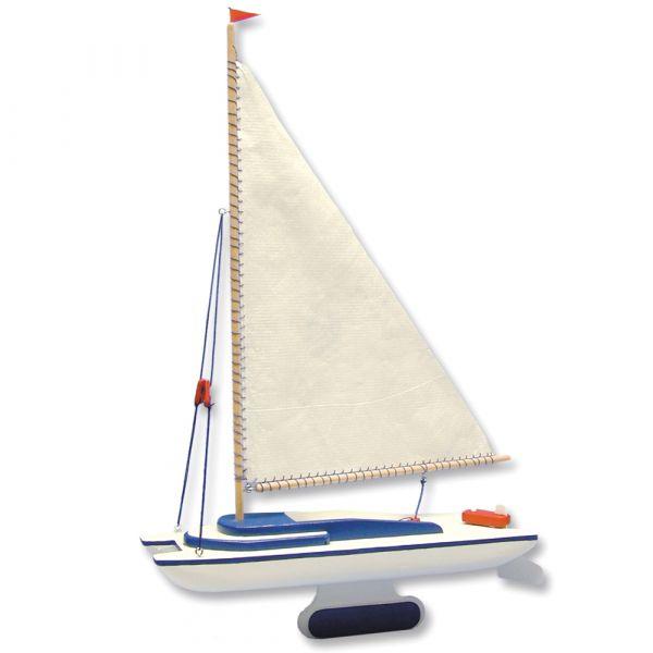 Segelboot Katamaran Boot Holz Bausatz Kinder Werkset Bastelset - ab 13 Jahren