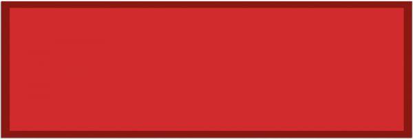 Fußmatte Teppichläufer UNI einfarbig rutschfest waschbar 50x150 cm Farbe rot