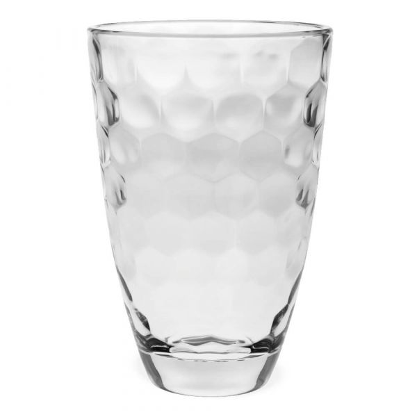Vase Wabenmuster Glas Dekoglas Glasvase Blumenvase rund 1 Stk Ø 16x24 cm