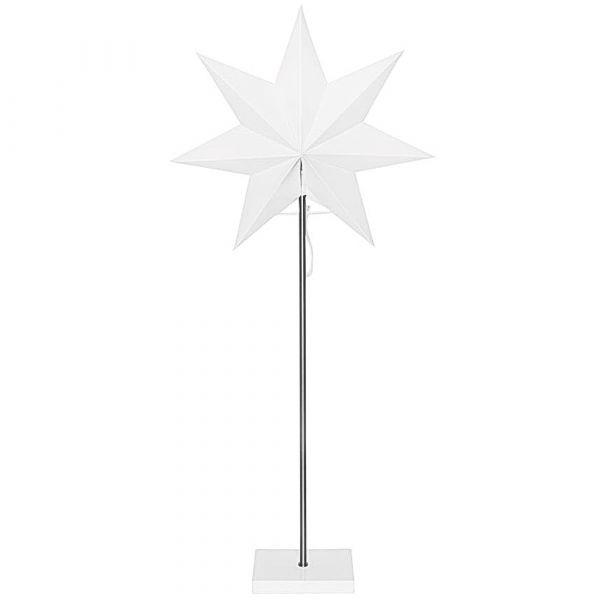 Stern Weihnachtsleuchter Weihnachtsstern Standleuchte Papier Metall Holz 230V 80cm