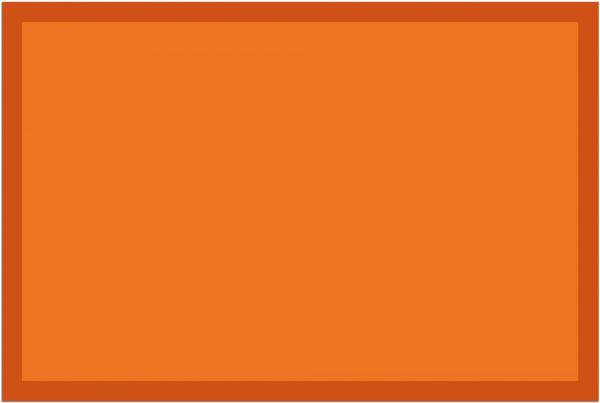 Fußmatte Fußabstreifer UNI einfarbig rutschfest waschbar 40x60 cm Farbe orange