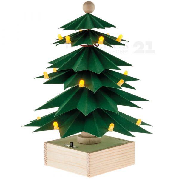 Bausatz LED-Baum Weihnachtsbaum Holz & Tonpapier & LEDs für Kinder ab 12 Jahren