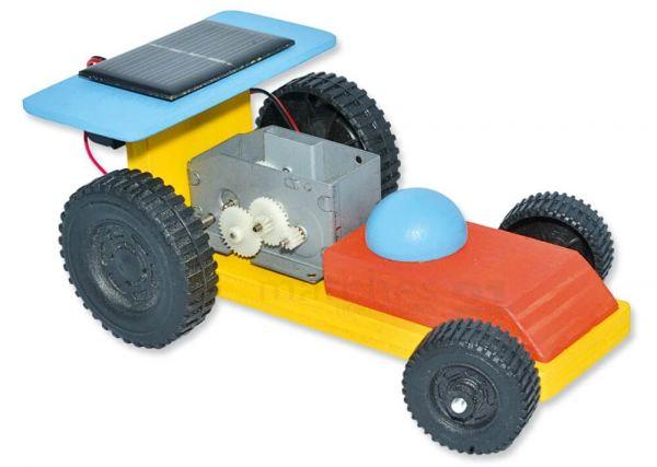 Solar Auto / Rennauto Flitzer lenkbare Achse Kinder Holz Bausatz ab 12 Jahren