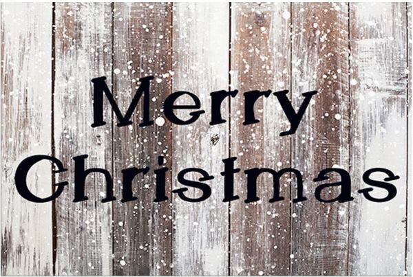 Fußmatte Fußabstreifer DECOR Merry Christmas & Holz Holzoptik waschbar 40x60 cm