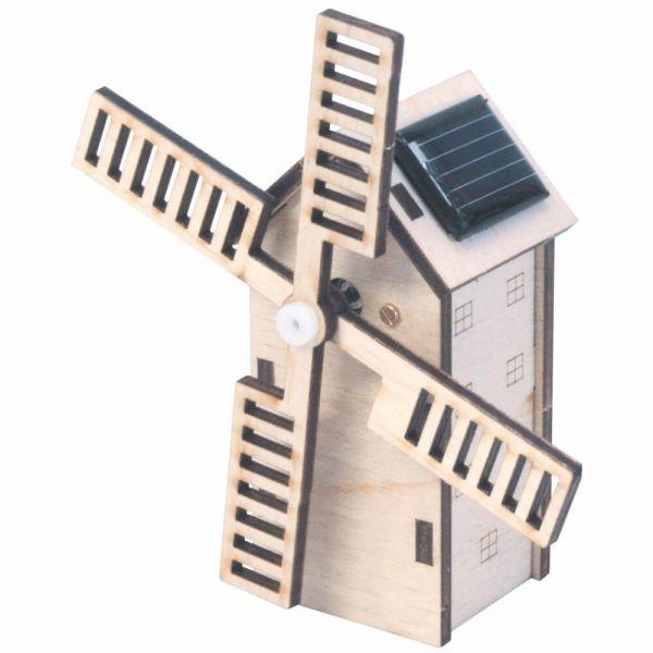 Solar Mini Windmühle Holz Steckbausatz Bausatz Bastelset für Kinder ab 8 Jahren