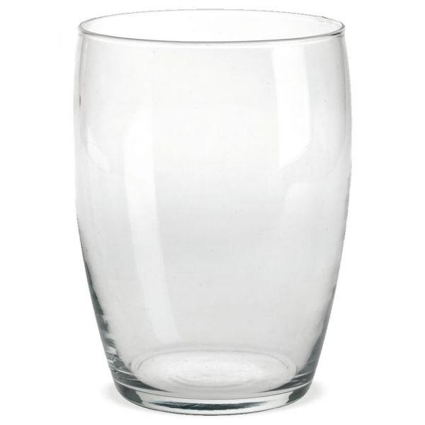 Vase Glas Dekoglas Glasvase Blumenvase bauchig weite Öffnung – Ø 14x19,5 cm