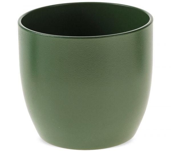 Übertopf Blumentopf klassisch matte Oberfläche Keramik 1 Stk Ø 16 cm dunkelgrün
